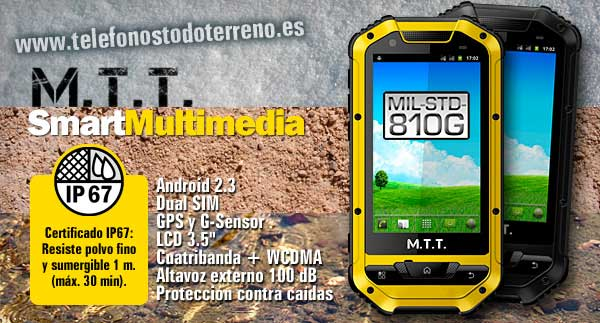 MTT Smart Multimedia Smartphone Todoterreno