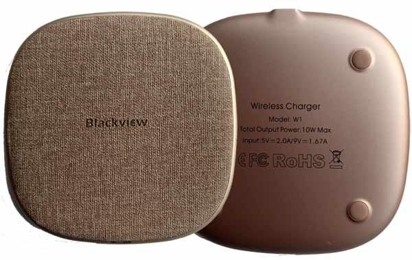 Blackview W1 cargador inalámbrico por inducción