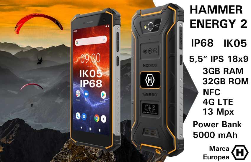Móvil rugerizado Hammer Energy 2 IP68 IK05