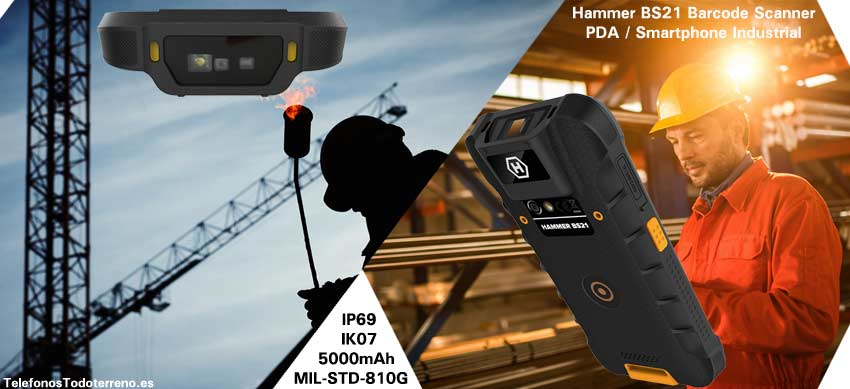 PDA Industrial Hammer BS21 con lector 2D