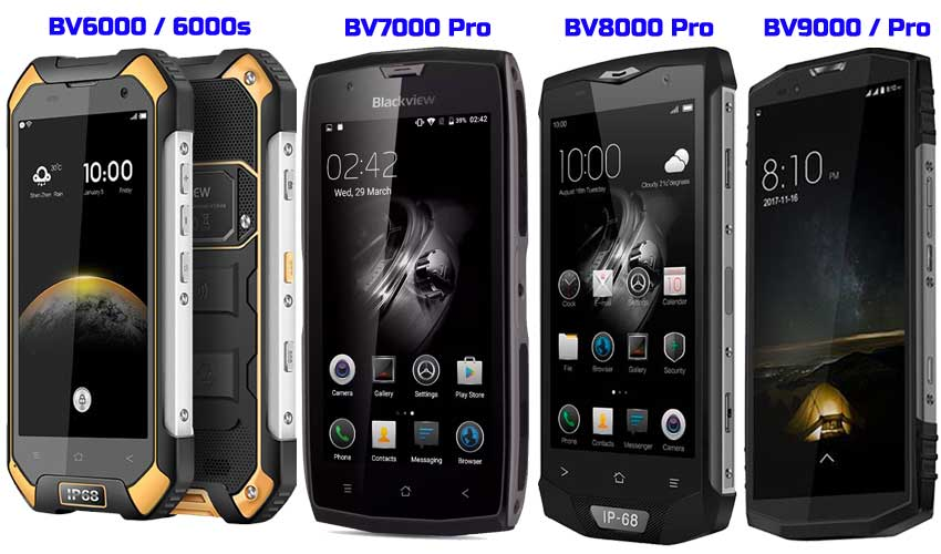 Móviles Blackview BV6000 7000 8000 9000
