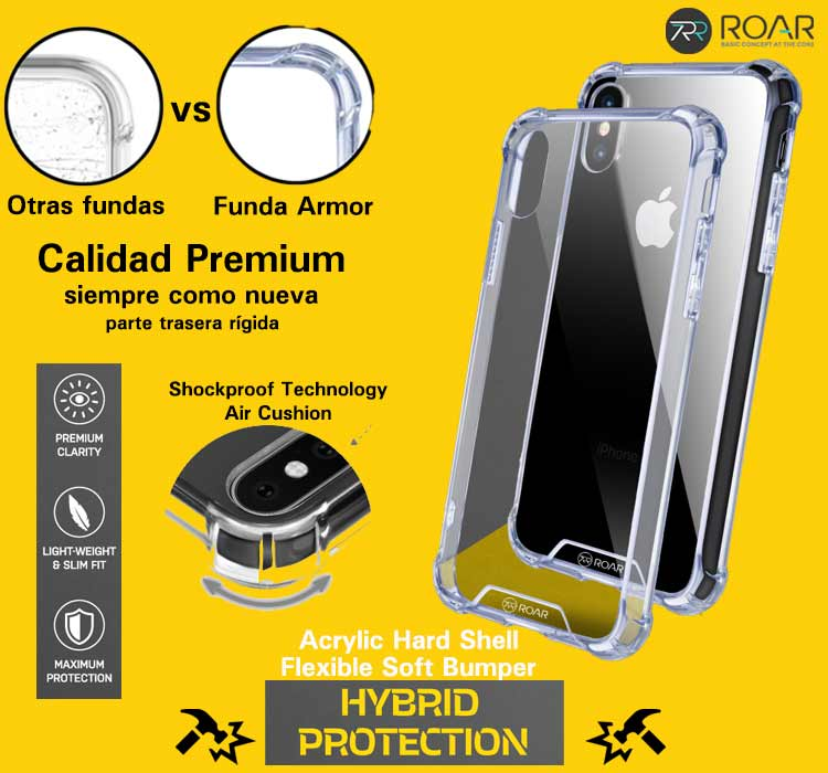 Funda resistente móvil iPhone Roar Armor Gel